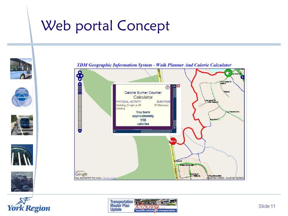 Slide 11 Web portal Concept