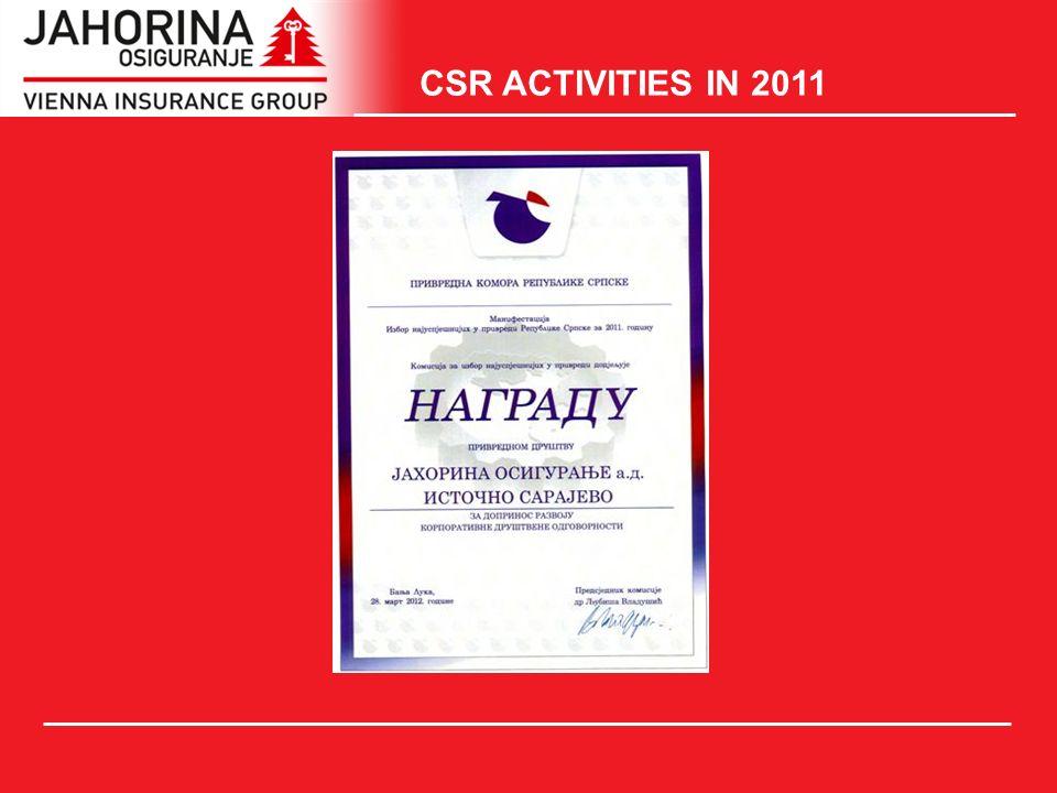 CSR ACTIVITIES IN 2011