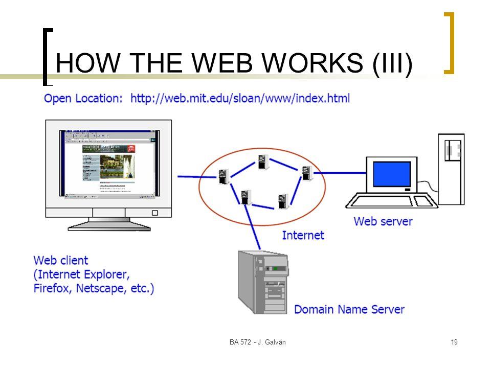 BA 572 - J. Galván19 HOW THE WEB WORKS (III)