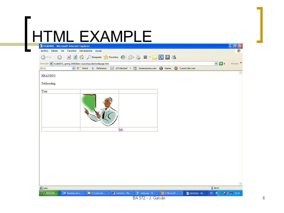 BA 572 - J. Galván8 HTML EXAMPLE
