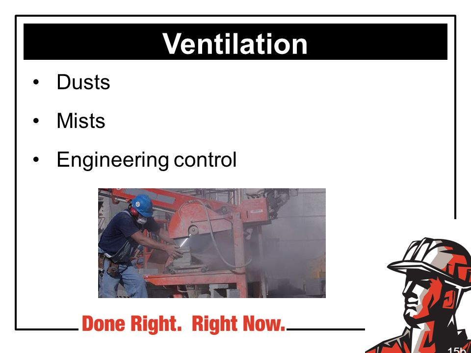 Ventilation Dusts Mists Engineering control 15b