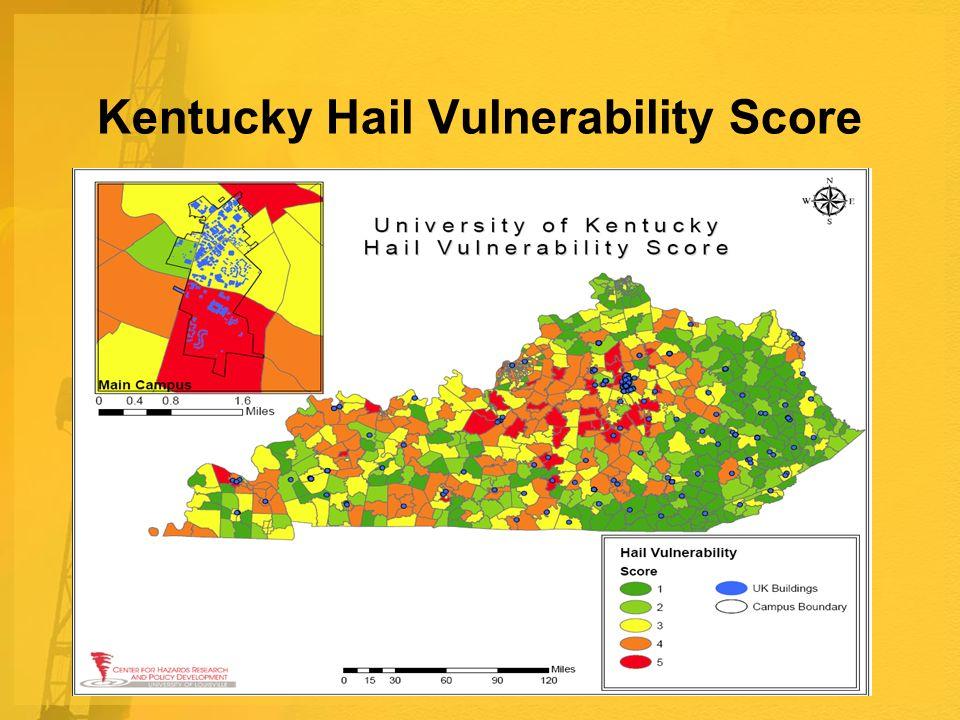Kentucky Hail Vulnerability Score
