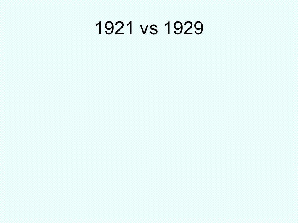 1921 vs 1929