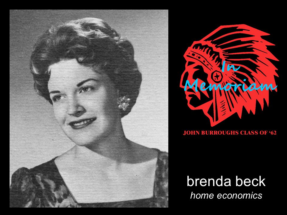 brenda beck home economics In Memoriam