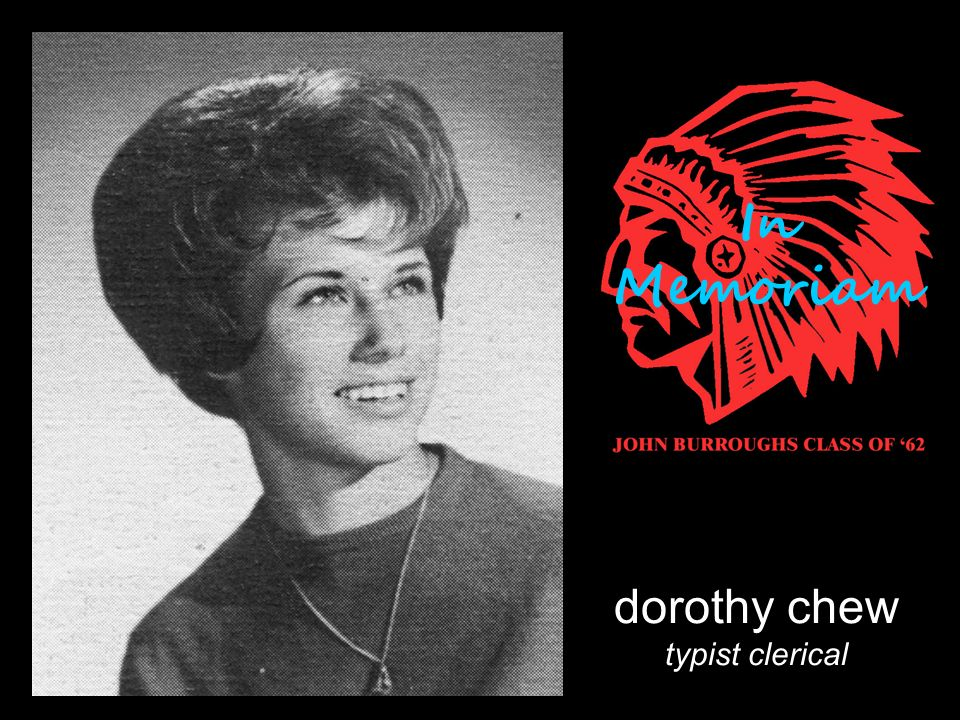dorothy chew typist clerical In Memoriam