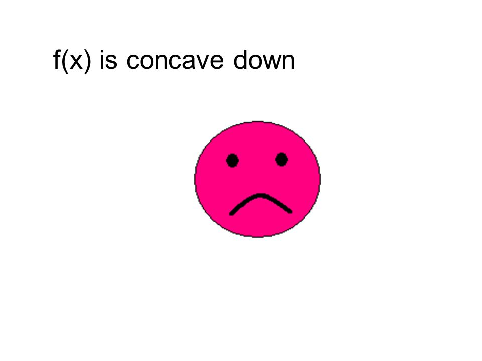 f(x) is concave down