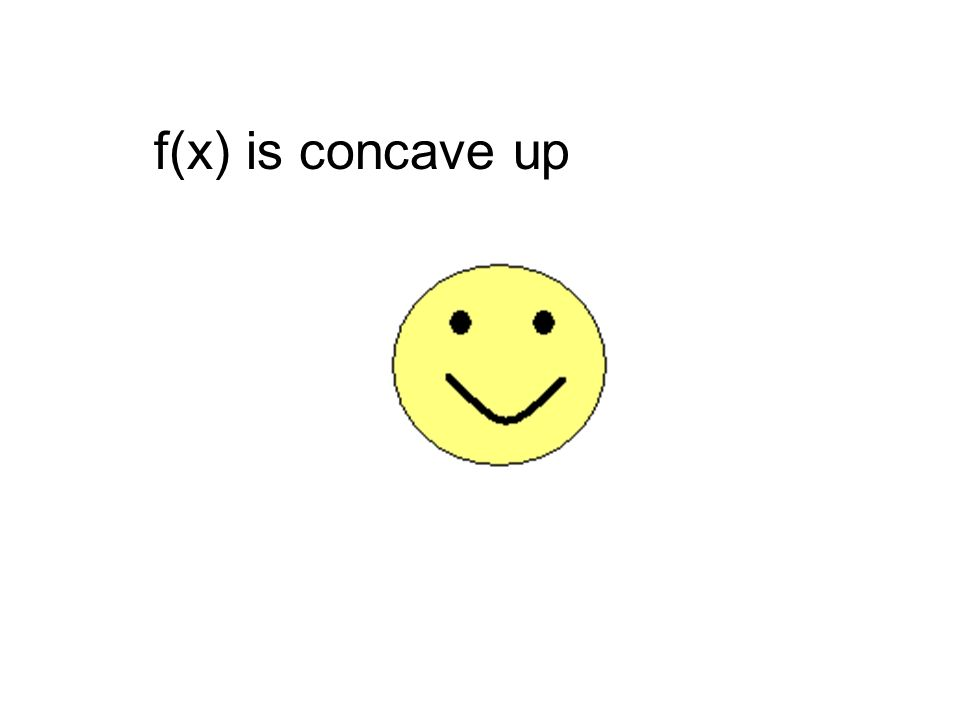 f(x) is concave up