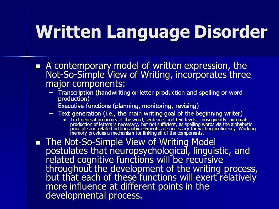 Written language disability