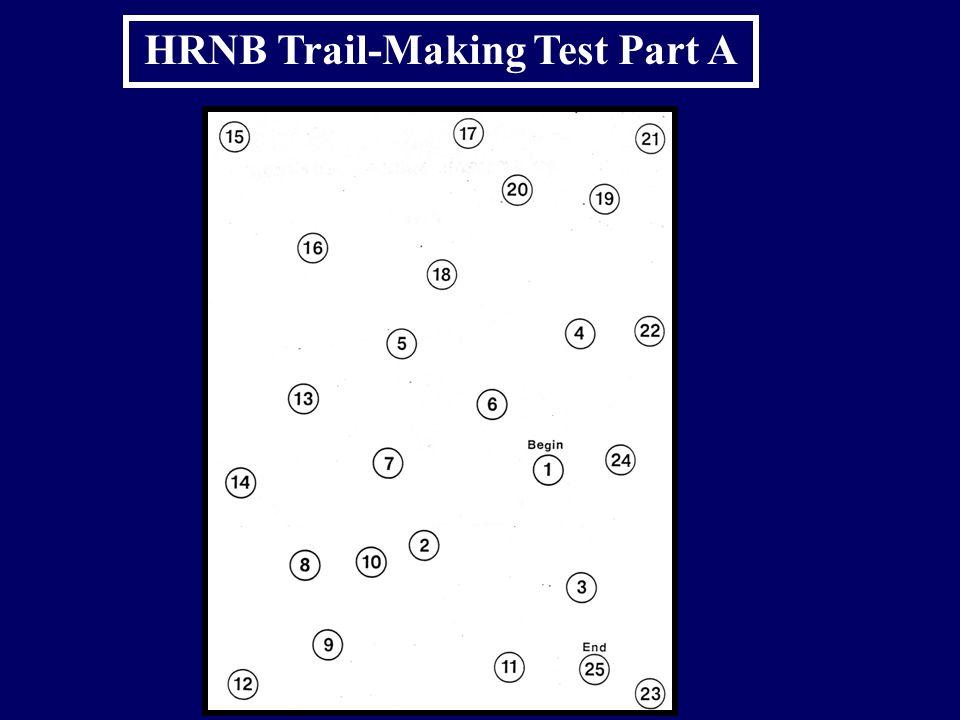 HRNB Trail-Making Test Part A