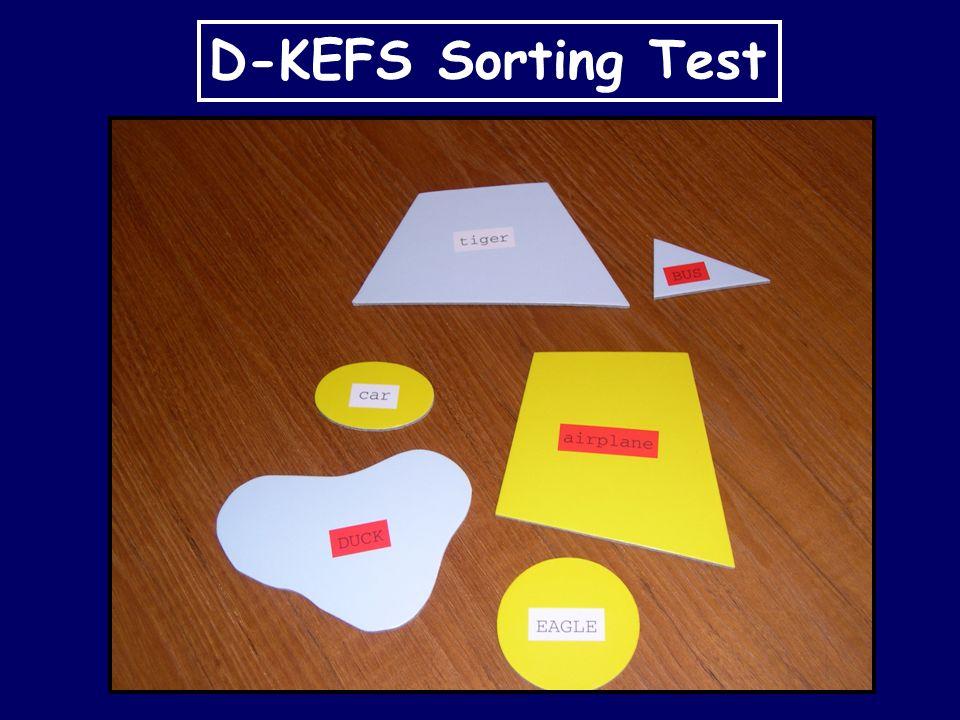 D-KEFS Sorting Test