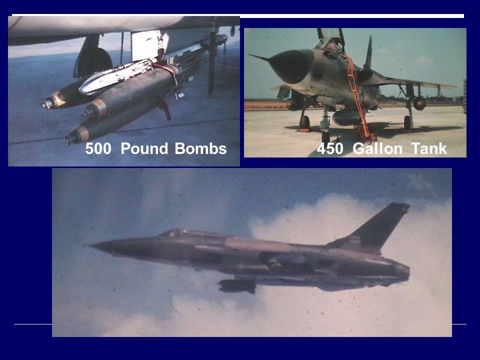 500 Pound Bombs450 Gallon Tank