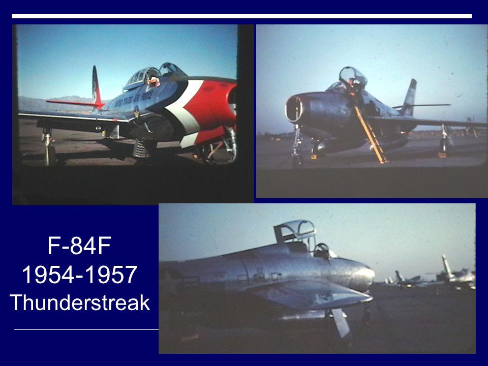 F-84F 1954-1957 Thunderstreak