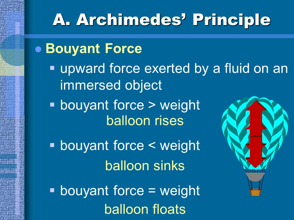 More water needs to be displaced in order to cancel weight ball floats lower in the water.