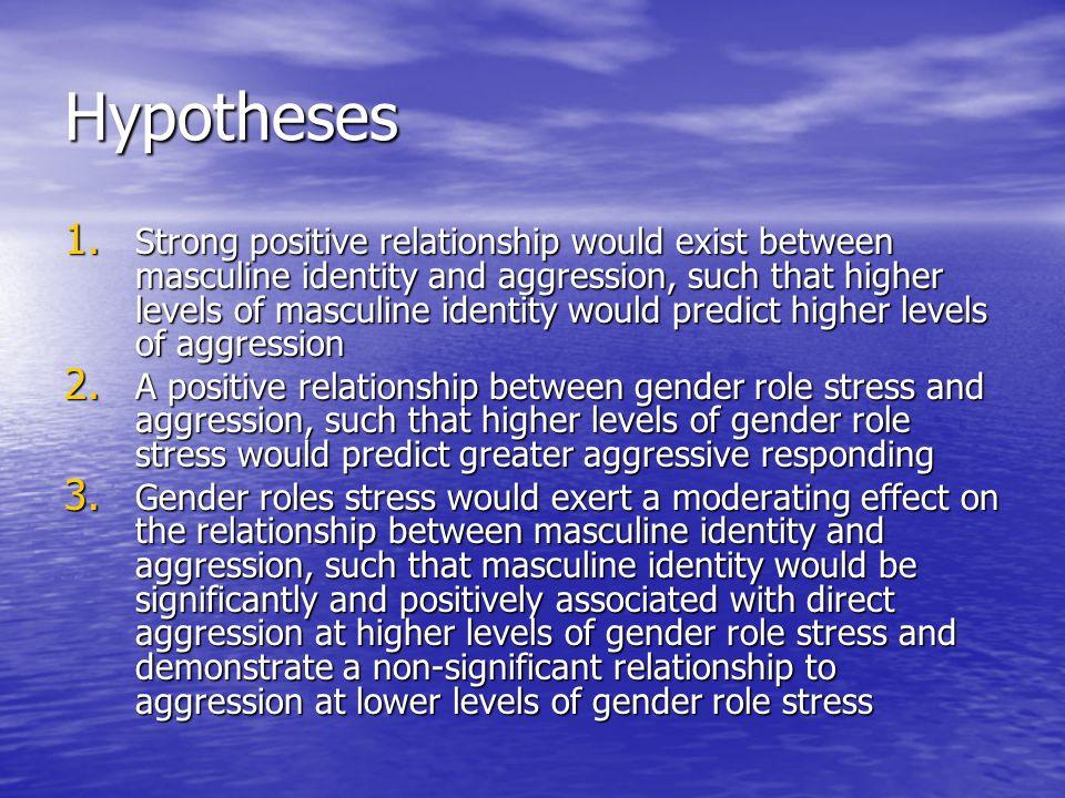 Method 97 undergraduate men 97 undergraduate men –Age 18-35 Materials Materials –CMNI (Conformity to Masculine Norms Inventory) –GRCS (Gender Role Conflict Scale) –RCAP (Response Choice Aggression Paradigm)