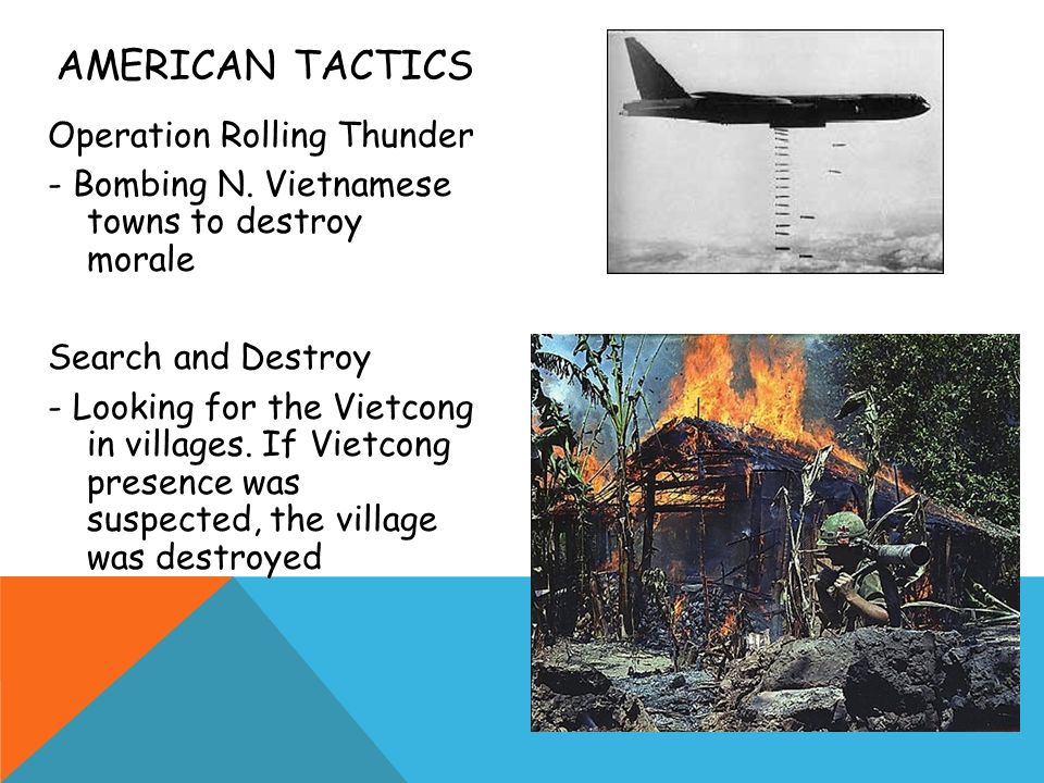 AMERICAN TACTICS Operation Rolling Thunder - Bombing N.