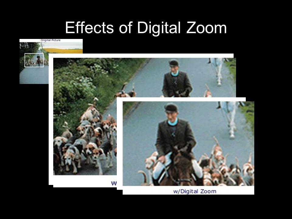 Effects of Digital Zoom