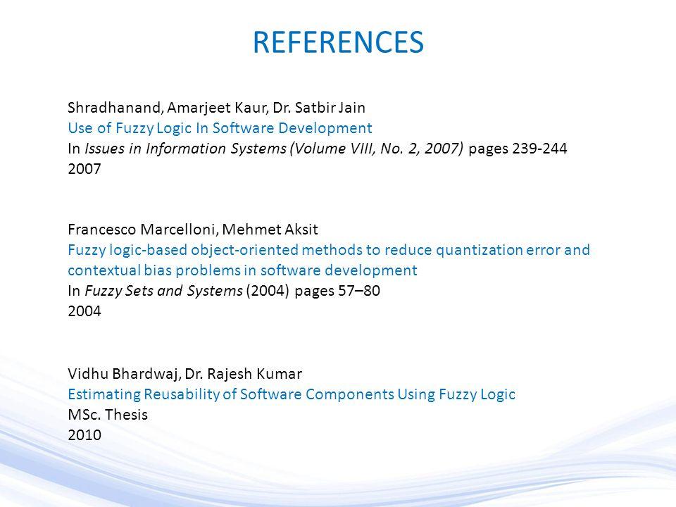 REFERENCES Shradhanand, Amarjeet Kaur, Dr.