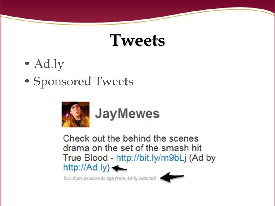 Tweets Ad.ly Sponsored Tweets