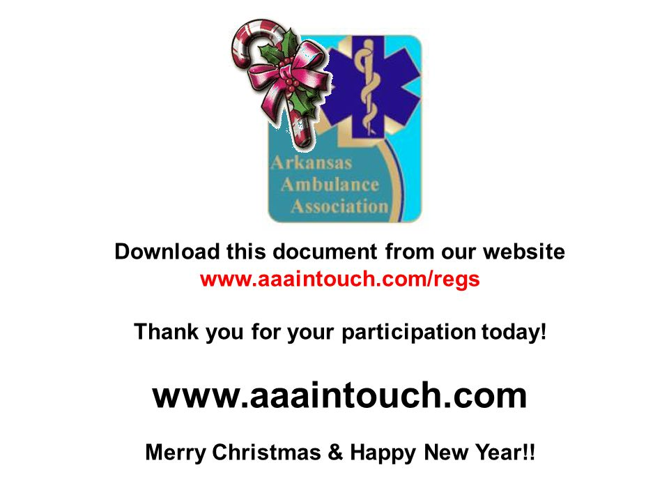 Download this document from our website   Thank you for your participation today.