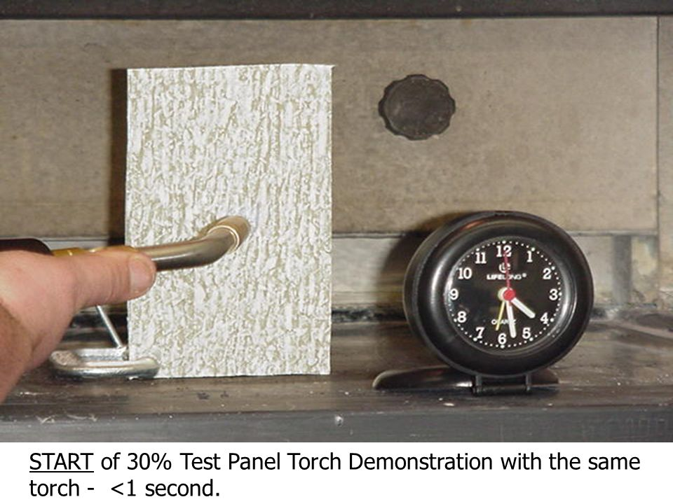 30% Test Panel - Back/Side. (Note: the excellent uniformity of the TSWB broadcast on both sides of the panel.)
