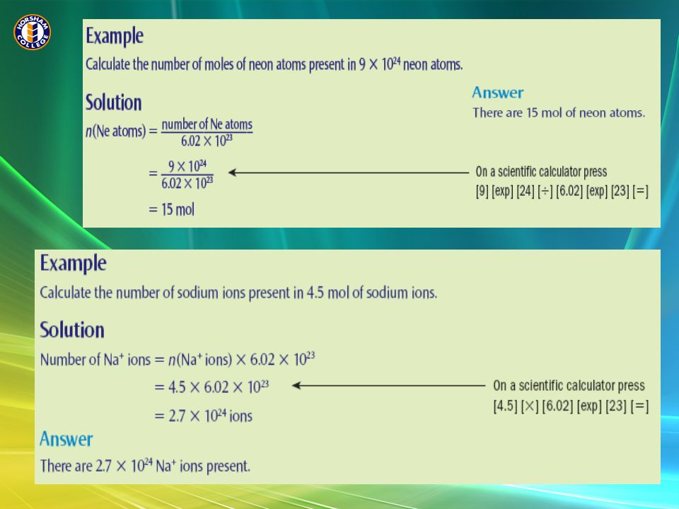 Why the Large Number.Avogadros number is based on the mass of a Carbon- 12 atom.