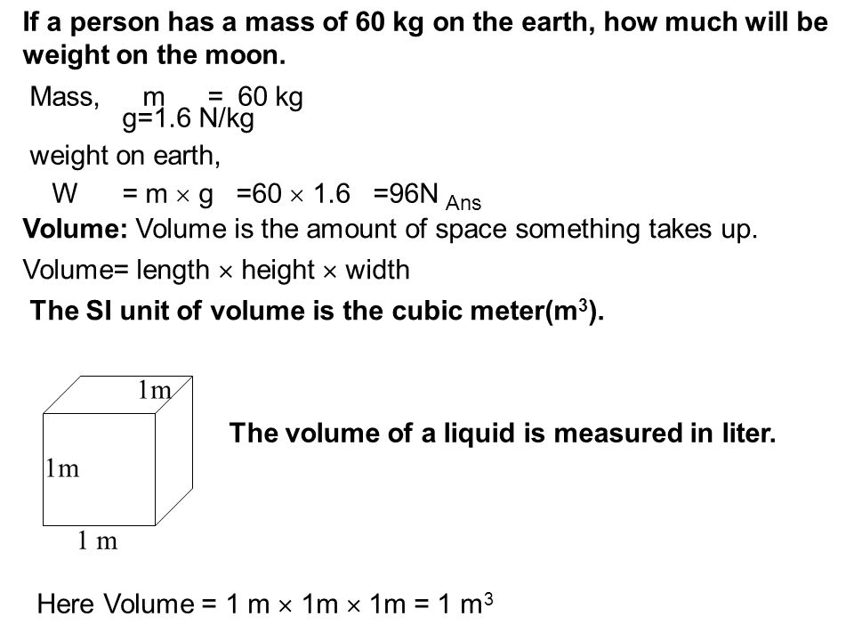 Density: The density of a substance is defined as the amount of matter contained in a unit volume of the substance.