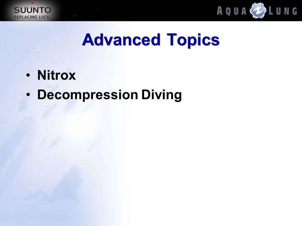 Advanced Topics Nitrox Decompression Diving