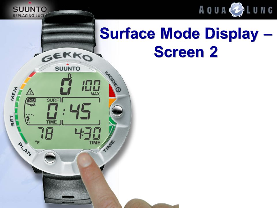 Surface Mode Display – Screen 2
