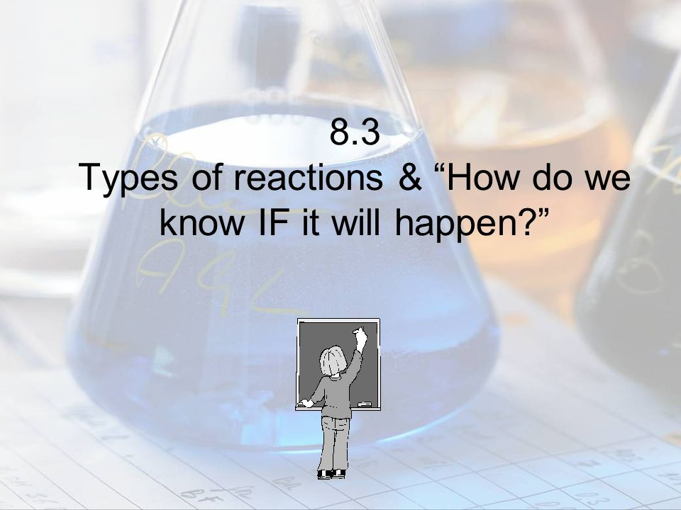 8.3 Types of reactions & How do we know IF it will happen?