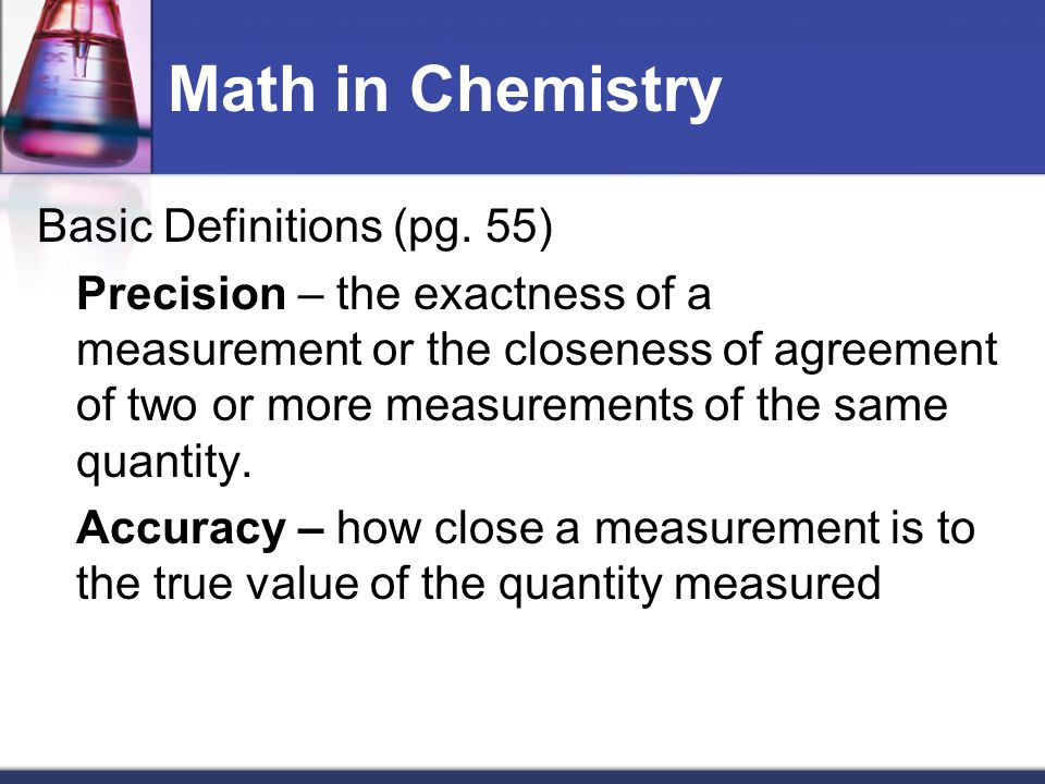Math in Chemistry Calculating with Significant Figures (pg 58) 1.