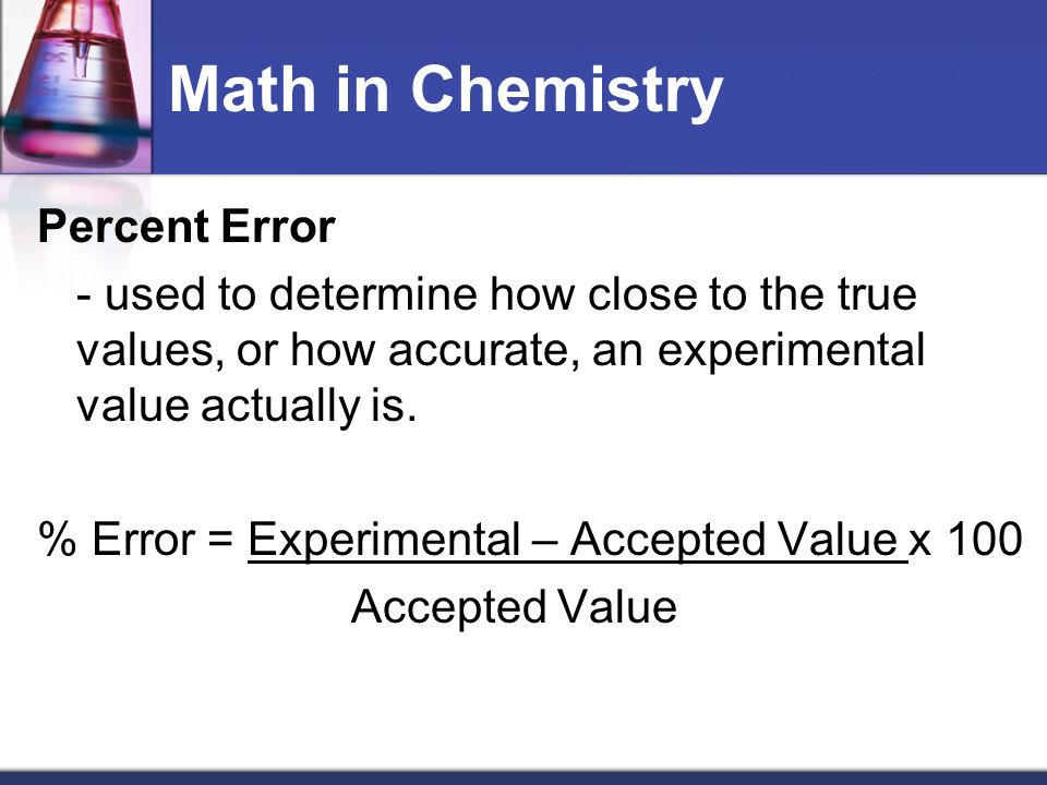 Math in Chemistry Significant Figures (pgs.