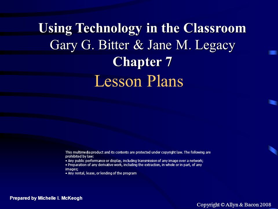 Copyright © Allyn & Bacon 2008 Group Work Equipment Set the stage State objectives Give instructions Check for understanding Group work Guided practice Discussion Regrouping Summary Assessment http://www.huntington.edu/education/lessonplanning/Plans.html