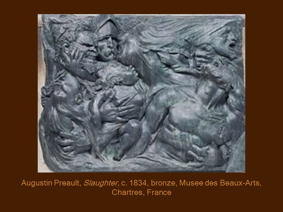 Augustin Preault, Slaughter, c. 1834, bronze, Musee des Beaux-Arts, Chartres, France