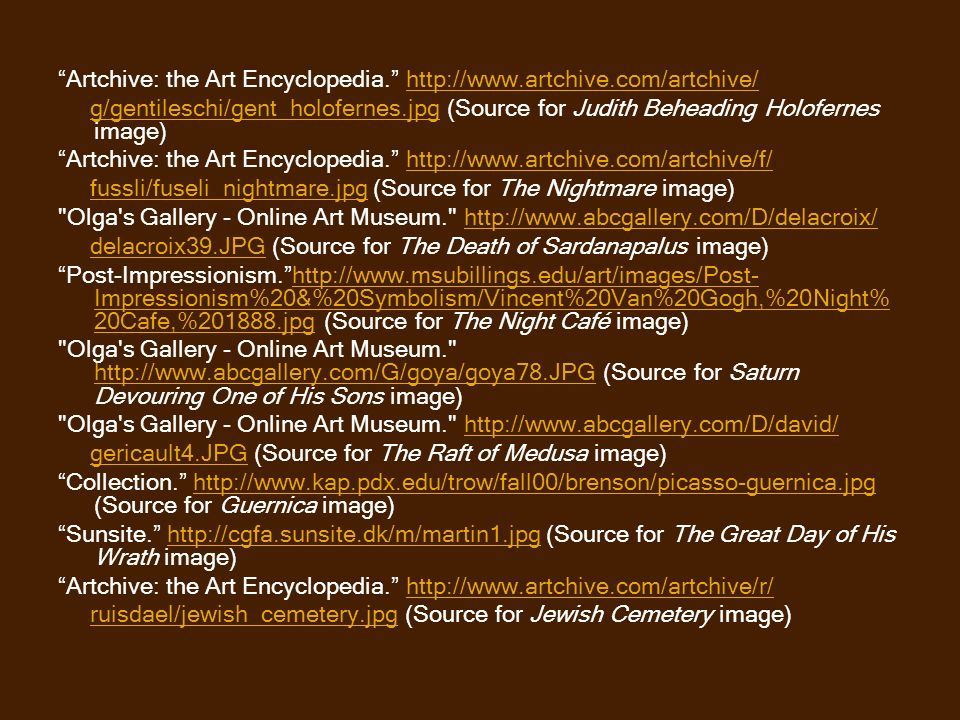 Artchive: the Art Encyclopedia.