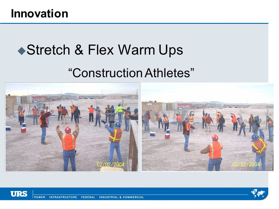 Innovation u Stretch & Flex Warm Ups Construction Athletes