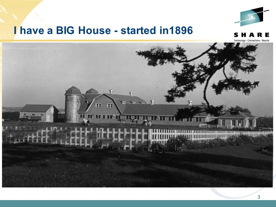 3 I have a BIG House - started in1896