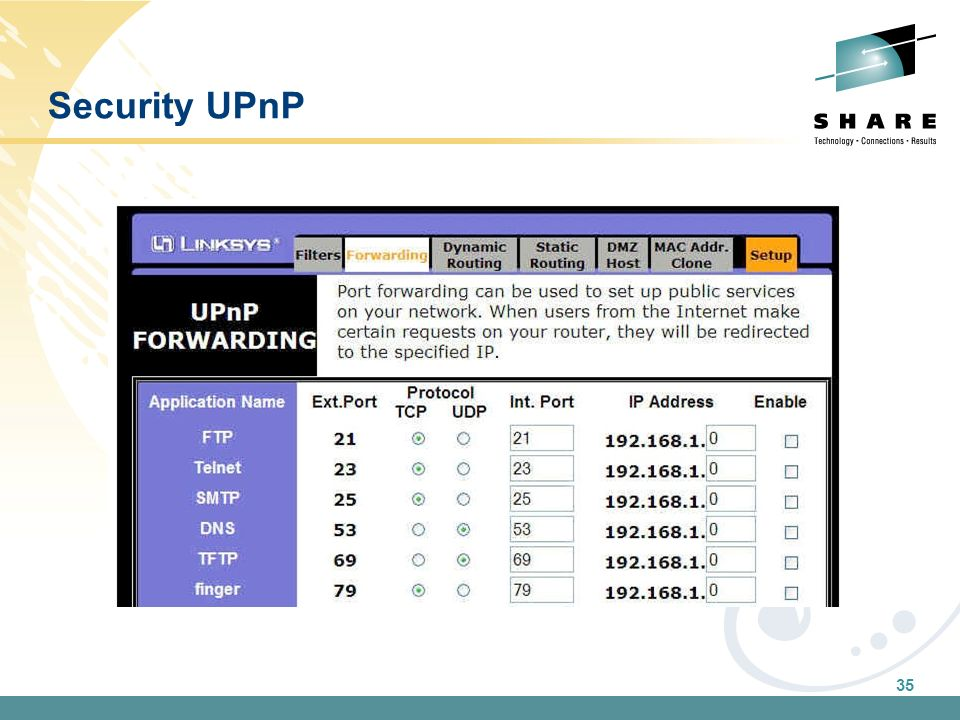 35 Security UPnP