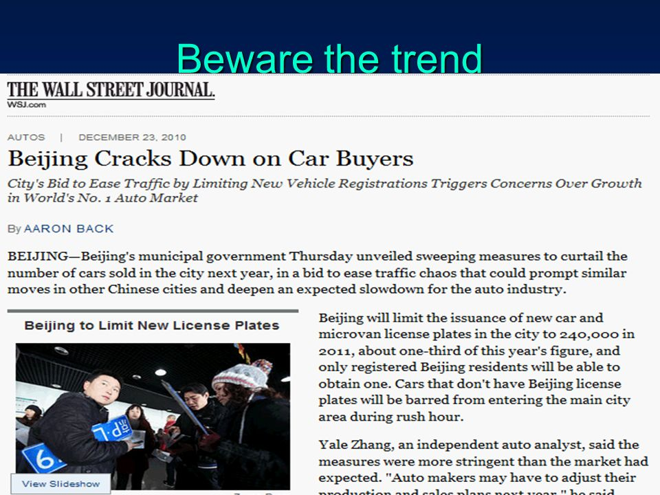 Beware the trend