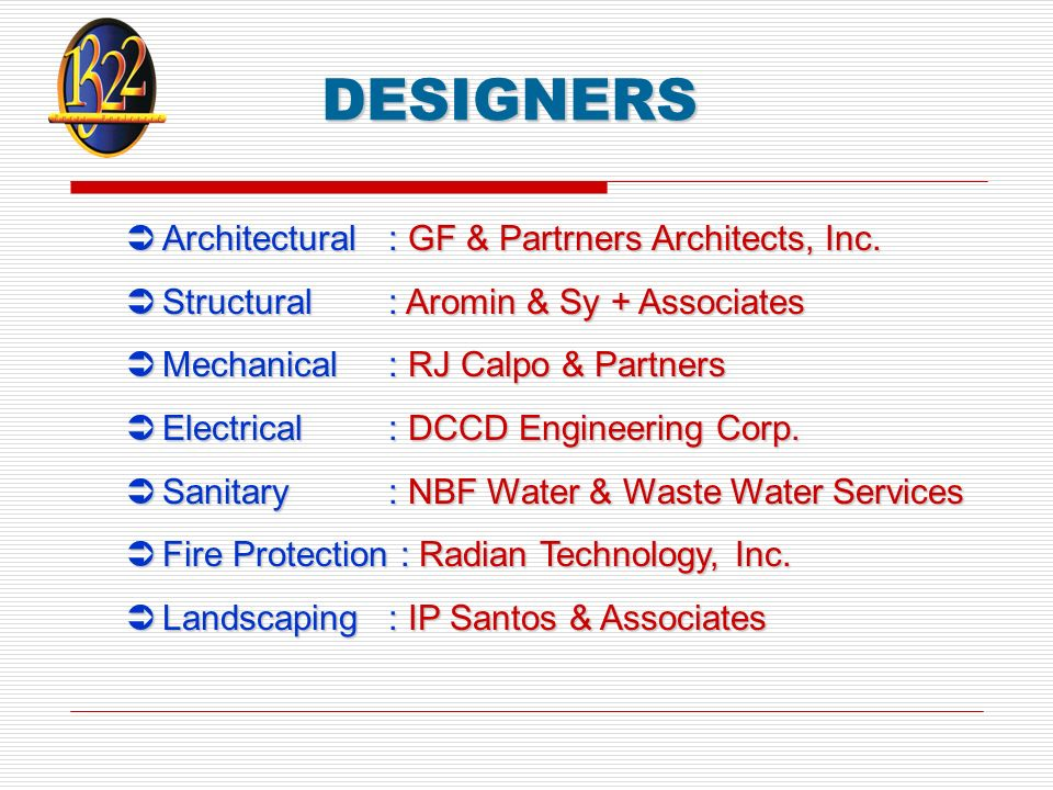 DESIGNERS Architectural: GF & Partrners Architects, Inc.