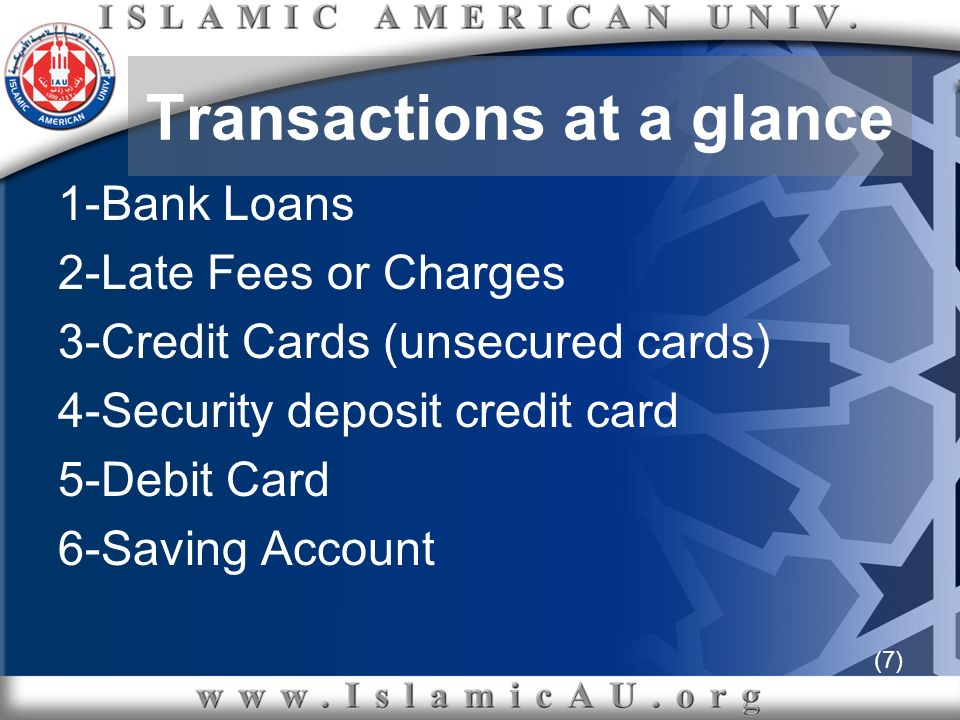 (68) B- Current transactions It is not the case if a Muslim is a lender who has an on-going usurious loan.