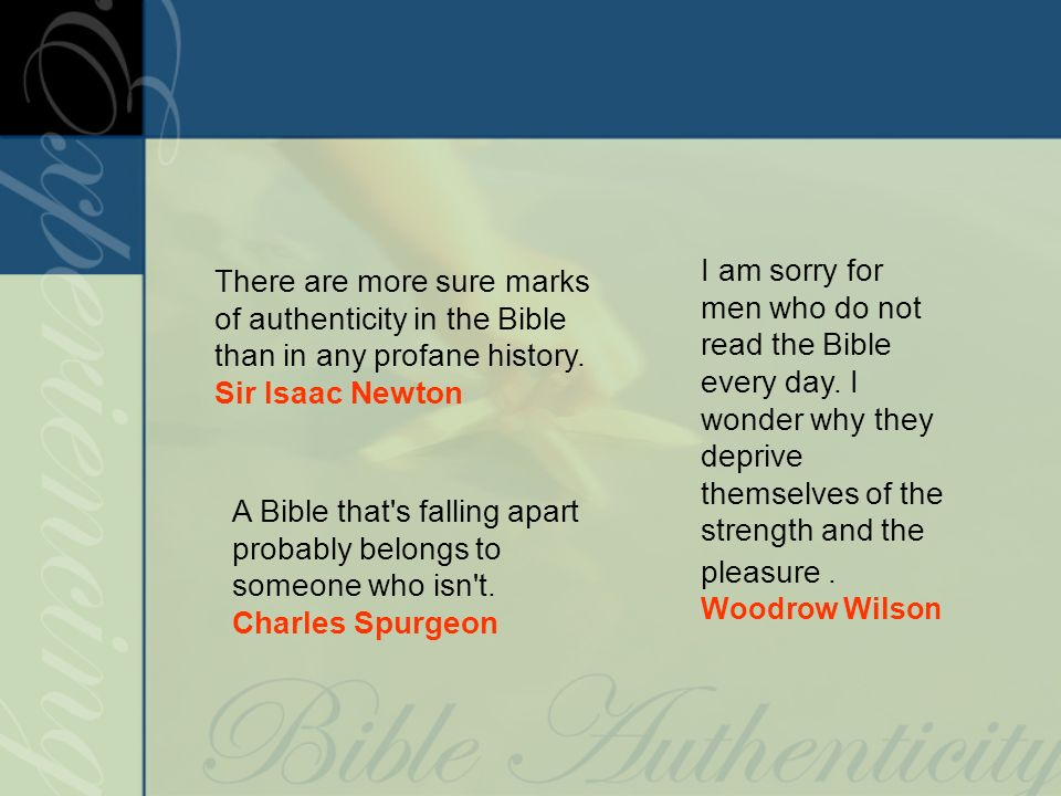 A Bible that s falling apart probably belongs to someone who isn t.