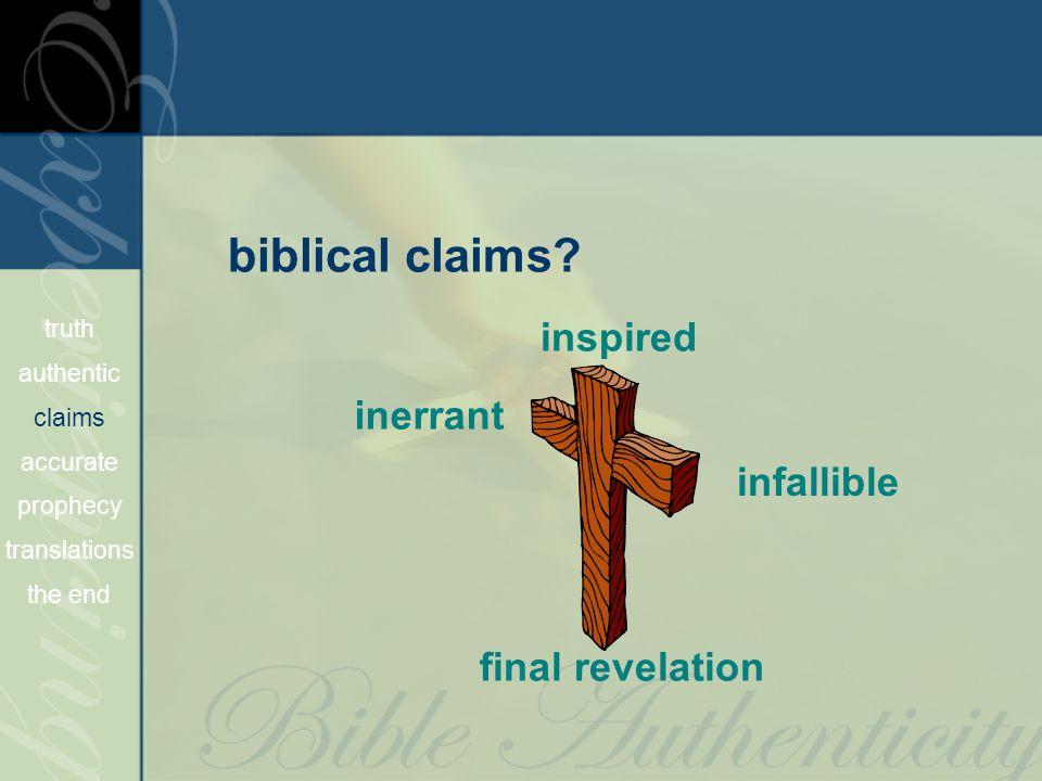 biblical claims.