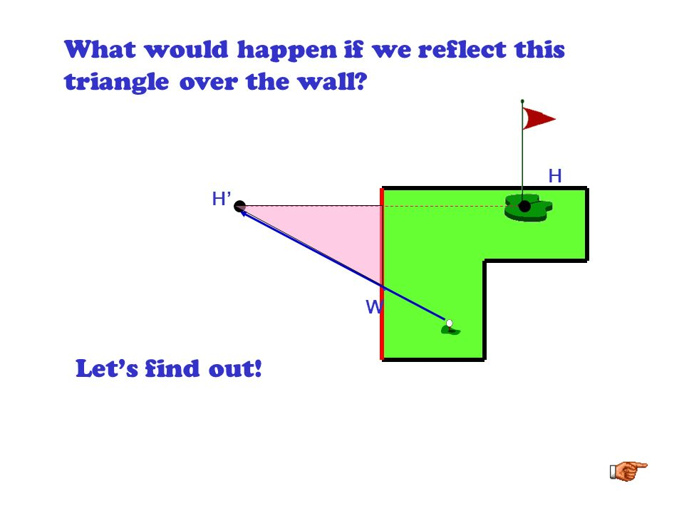 H A right triangle is formed. H. W