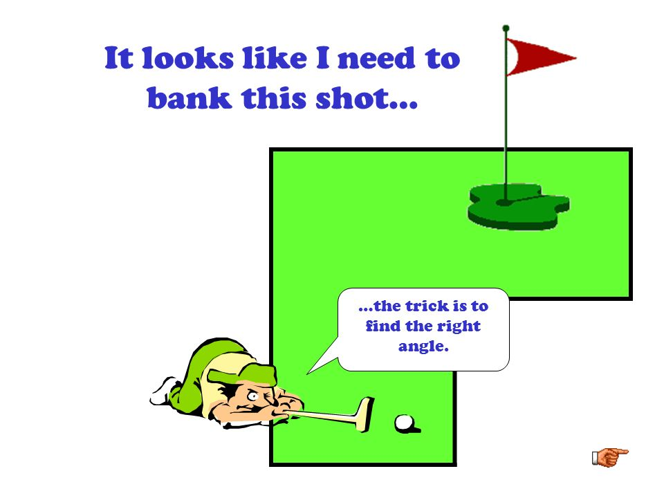 But how can we use math to determine where the ball should bounce off the wall?