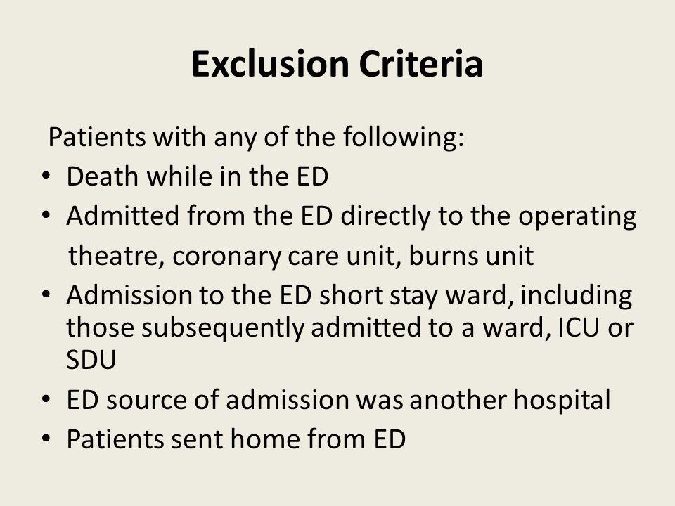 Median LOS in correlation with EDLOS All patientsWardICUSDU Hospital LOS in days 4.03.97.46.8 ICU/SDU in days 1.60.9