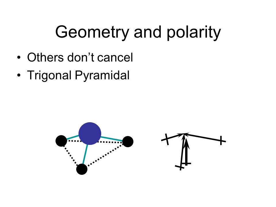 Geometry and polarity Others dont cancel Trigonal Pyramidal