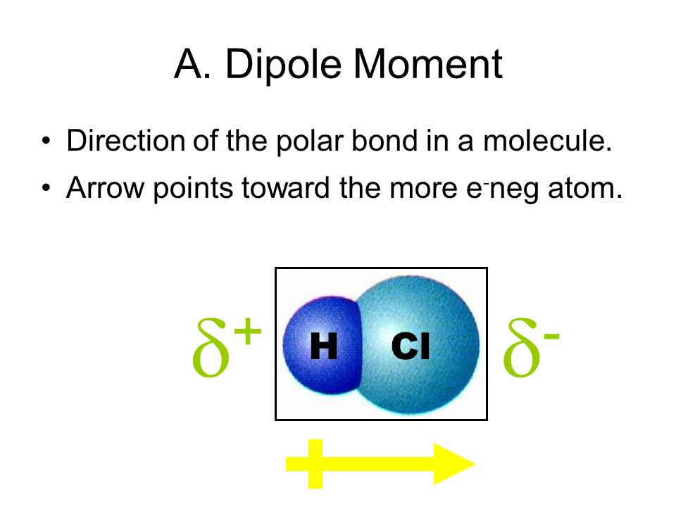 B. Determining Molecular Polarity Depends on: –dipole moments –molecular shape