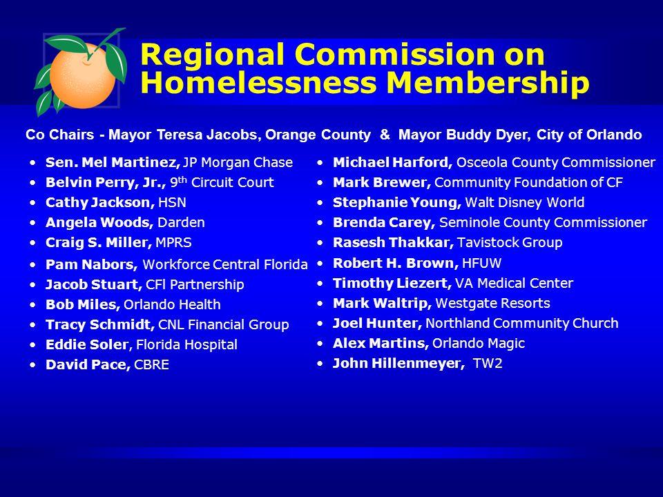Regional Commission on Homelessness Membership Sen.