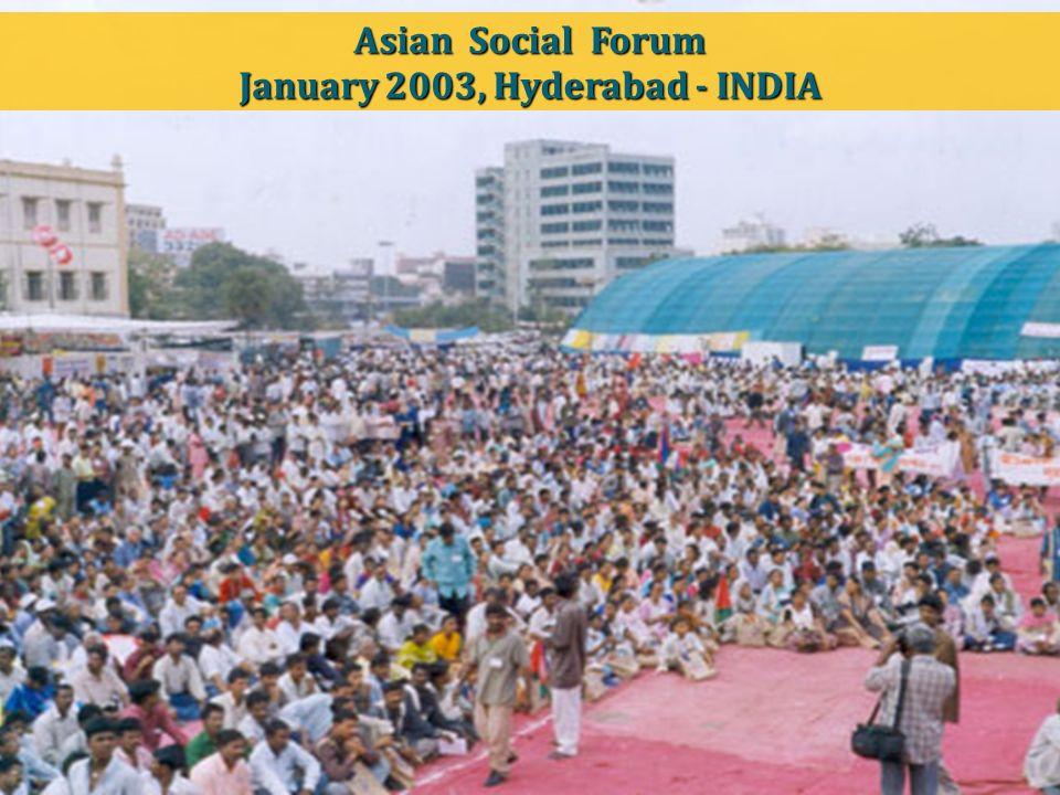 Asian Social Forum January 2003, Hyderabad - INDIA