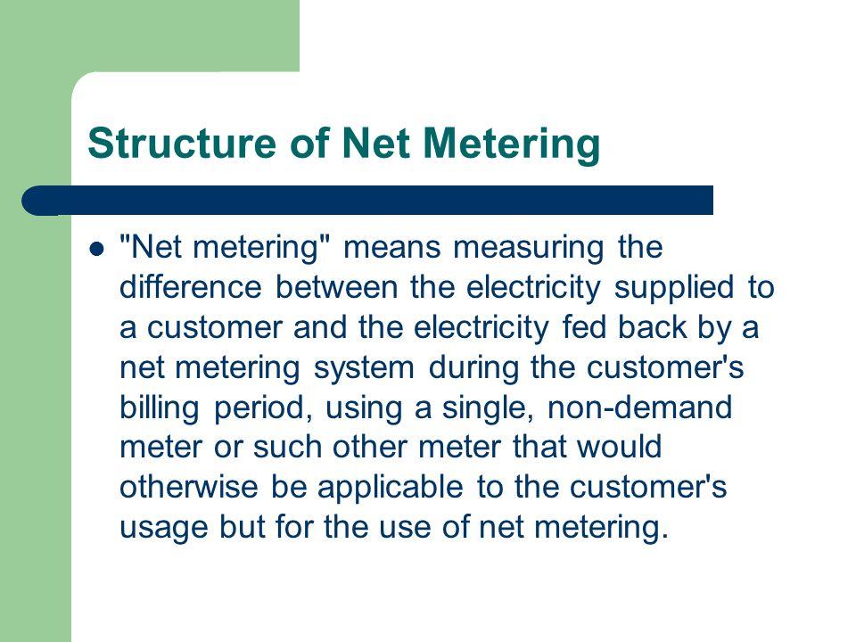 Structure of Net Metering